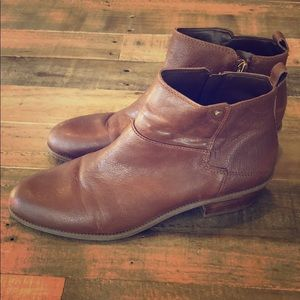 Beautiful Franco Sarto Rich Brown Leather Booties